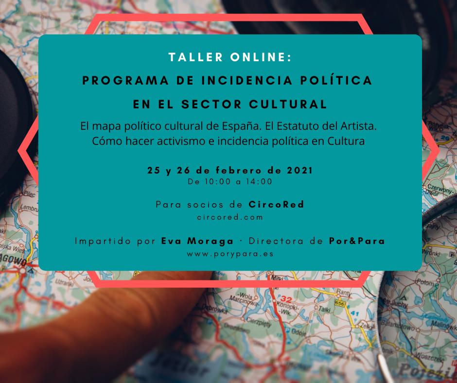 Programa de Incidencia Política en el Sector Cultural
